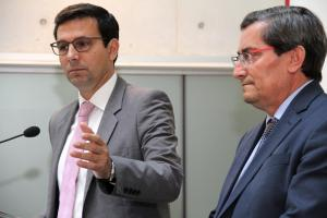 El alcalde con el presidente de la Diputación, este jueves.