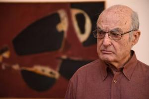 Luis Gordillo, en la presentación de la exposición.