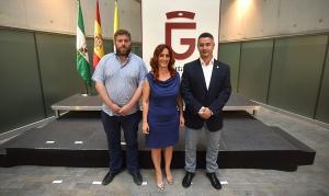 Los representantes de IU en la Diputación.