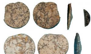 Adornos cónicos del Neolítico medio encontrados en Granada.