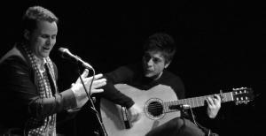 El cantaor, en una de sus actuaciones.