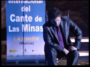 Juan Pinilla, hace diez años cuando triunfó en el Cante de las Minas de la Unión.