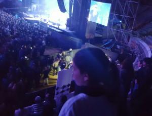 Nuestra protagonista en el concierto de 091.
