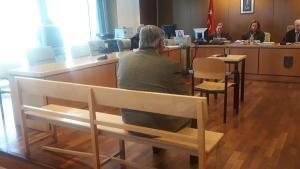 Juan Tomás Martín durante el juicio celebrado este jueves.