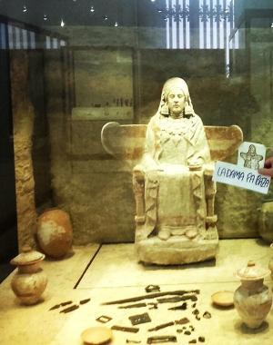 La Dama de Baza, en el Museo Arqueológico Nacional.