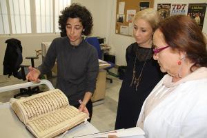 Los dos primeros libros restaurados recogen la historia del Pósito y el Catastro del Marqués de Ensenada.