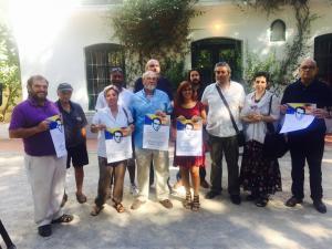 Organizadores y participantes en el homenaje a Lorca.