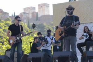 Los Planetas, en un concierto en el Palacio de los Córdova.