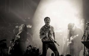 Manolo García, durante un concierto.