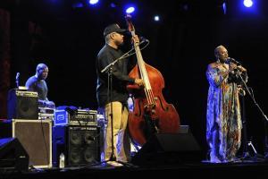El grupo Situation, del bajista Christian McBride, anoche en El Majuelo.