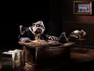 Una escena de la obra Clowns' Houses, de Merlin Puppet Theatre.