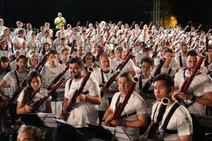 Concierto del récord Guinnes celebrado anoche en Granada.