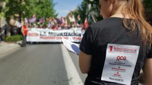 Mensajes de apoyo a la OCG en la movilización del pasado 1 de mayo.