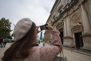 Las obras se acometerán en el muro noroeste del Palacio de Carlos V.