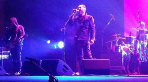 Jota, Julián y Eric, en la actuación en Almería.