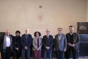 Representantes institucionales en la presentación del Seminario Internacional.