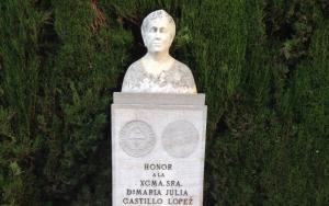 Busto de María Julia Castillo López, a la que te descubrimos en este excepcional reportaje.
