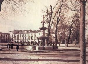 En este lugar estuvo la plaza de toros de la Carrera, mucho antes que la Fuente de los Gigantones.