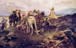 Suspiro del Moro, de Pradilla. Quizás la mejor y más documentada pintura sobre la salida de Boabdil.
