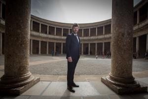 Pablo Heras-Casado, este lunes en el Palacio de Carlos V.