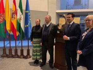 De izquierda a derecha, Laura García Lorca, Darío Jaramillo, Francisco Cuenca y María de Leyva.