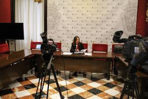 Rocío Díaz en rueda de prensa este miércoles.