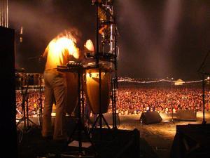 Espectacular imagen del Zaidín Rock de 2004.