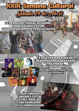 Cartel de la Semana Cultural de Vélez Benaudalla.