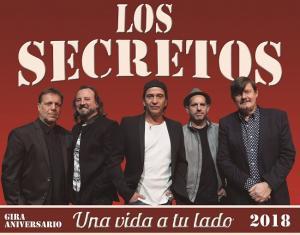 Cartel de la gira de Los Secretos por sus 40 años de trayectoria.
