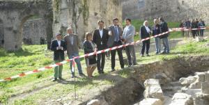 Trabajos arqueológicos previos al acondicionamiento del Paseo de Romayla.