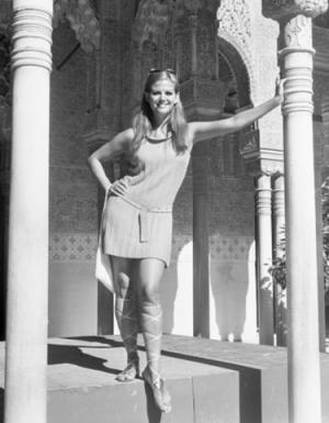 La actriz, en la Alhambra.
