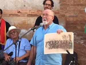 Francisco Vigueras durante el homenaje.