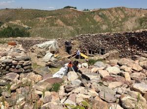 Detalle del yacimiento de Monachil.