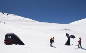 Espléndida imagen de la estación de esquí durante Semana Santa.