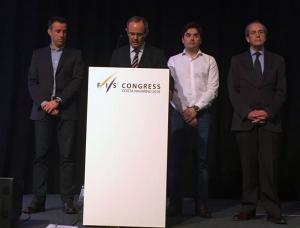 Eduardo Valenzuela, al micrófono tras su elección.
