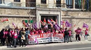 Imagen de una de las movilizaciones de este colectivo.