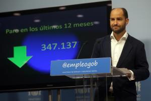 El secretario de Estado de Empleo y Seguridad Social, Juan Pablo Riesgo, informa de los datos de julio.