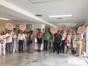 Los delegados y delegadas de UGT en el Hospital de Motril.