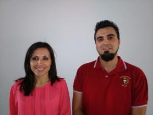 María J. Ruedas y Ángel Orte, autores del proyecto.