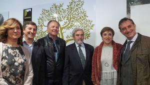 Sandra García participó en la presentación del primer aceite del año de Campooliva.