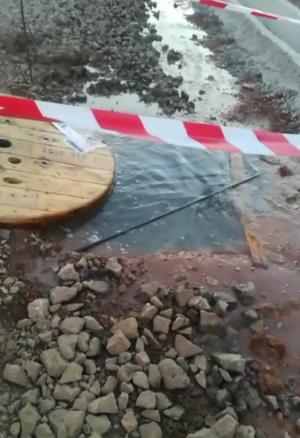 Agua detectada en el trazado.