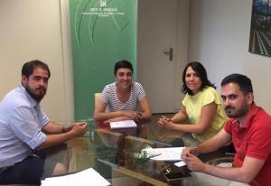 Reunión con la delegada de Fomento y Vivienda.