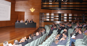 Imagen de la Asamblea General de Caja Rural de Granada celebrada hoy
