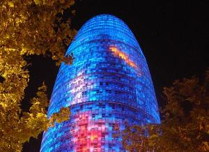 Antigua torre Agbar, la que es hoy torre Glòries.