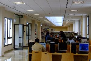 Una de las salas de estudio universitarias.
