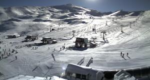 Imagen de Borreguiles tomada de las cámaras de las pistas a las 10.30 de este 24 de noviembre.