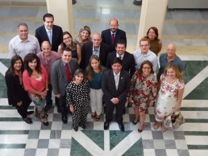 Equipo de profesionales directivos del Ministerio de Salud de Brasil y Asesores de la Organización Panamericana de la Salud (OPS/OMS) Brasil en la EASP.