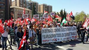 Manifestación del pasado sábado, 8 de abril.