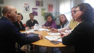 Una de las reuniones para preparar la cobertura sanitaria.
