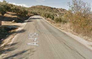 Carretera entre Loja y Ventorros de San José.